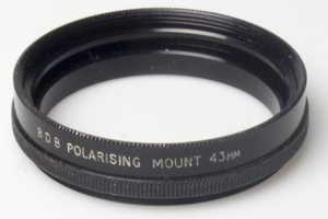 BDB 43mm polariser filter mount Filter