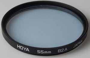 Hoya 55mm 82A blue Filter