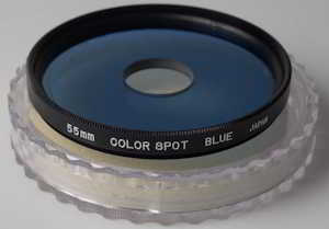 Hoya 55mm Color Spot Blue Filter