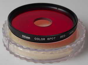 Hoya 55mm Color Spot Red Filter