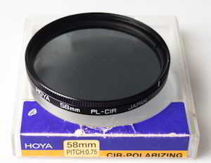 Hoya 58mm circular polarising Filter