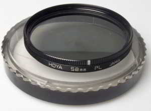 Hoya 58mm polarising Filter