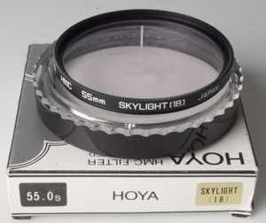Hoya 55mm HMC Skylight 1B Filter