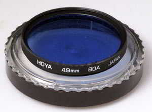 Hoya 49mm 80A blue Filter