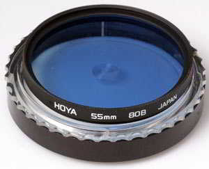 Hoya 55mm 80B Blue Filter