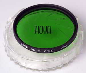 Hoya 55mm Green G (X1) Filter
