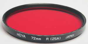 Hoya 72mm R25 red Filter