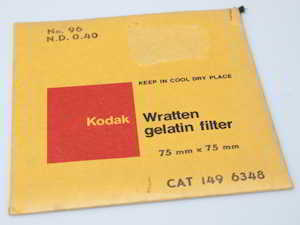 Kodak Wratten 96 ND 0.40 gelatin filter 75mm square  Filter