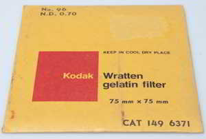 Kodak Wratten 96 ND 0.70 gelatin filter 75mm square  Filter