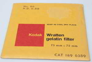 Kodak Wratten 96 ND 0.80 gelatin filter 75mm square  Filter