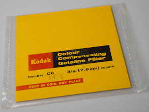 Kodak Wratten CC10C Cyan  gelatin filter 75mm square  Filter