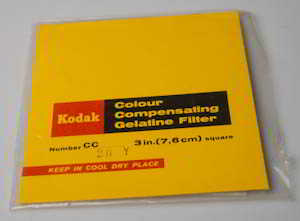 Kodak Wratten CC20Y Yellow  gelatin filter 75mm square  Filter