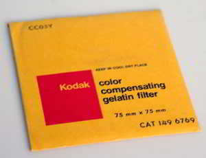 Kodak Wratten CC05Y Yellow  gelatin filter 75mm square  Filter