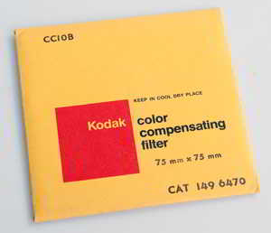 Kodak Wratten CC10B Blue  gelatin filter 75mm square  Filter