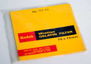 Kodak Wratten ND 0.6 gelatin filter 75mm square  Filter