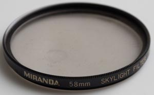 Miranda 58mm Skylight Filter