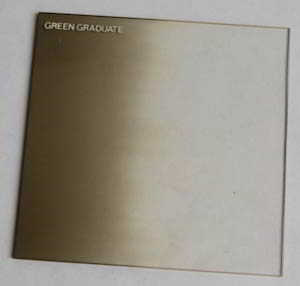 Unbranded 75mm Square Green Grad Filter