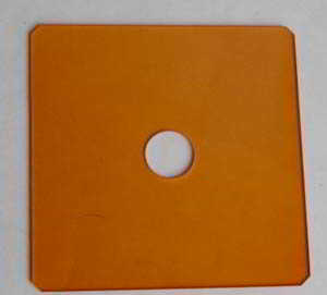 Unbranded 75mm Square Orange Filter