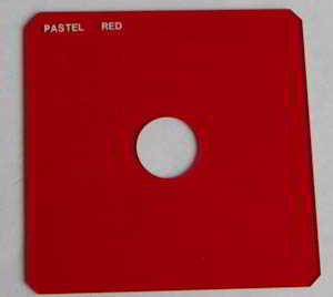 Unbranded 75mm Square Pastel red Spot Filter